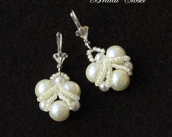 Bridal Pearl Earrings, Bridal Earrings Pearl, Pearl Earrings, Wedding Earrings, Pearl Bridal Jewelry, Bridesmaids Earrings, Bridesmaids Gift
