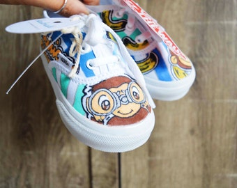 CURIOUS GEORGE Themed Customized Sneakers NEW Toddler/Infant Size Boy