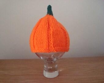 Halloween pumpkin baby hat size 0 - 3 months