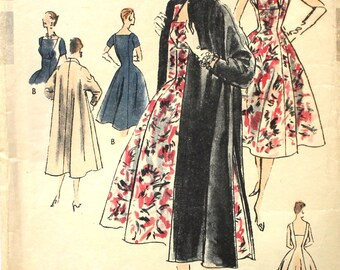 1956 Vogue Special Design S-4663 Coat and Dress Bust 34 1950's Vintage Sewing Pattern