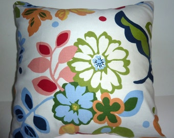 Closeout! Bright Floral Pillow Cover Accent Throw 3 sizes