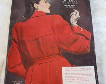 Vintage Spiegel Catalog Fall and Winter 1949 Original Vintage Fashions Toys And More