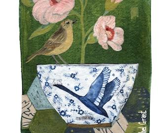 Swan Bowl Print