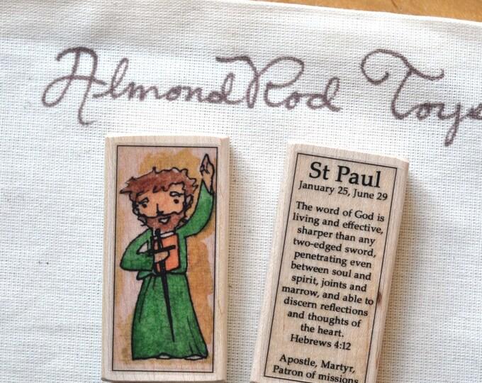 St Paul Patron Saint Block