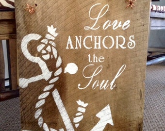 Rustic Barnwood Love, Anchor Sign