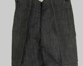 Vintage Salesman Sample Striped Wool Pair Men's Wool Pants with Button Up Miniature, Gift