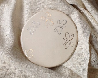 Ceramic Coaster with Butterflies