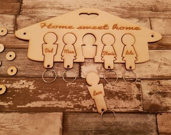 Key ring and wall holder