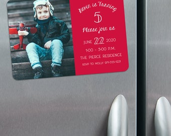 Happy Birthday - Birthday Save the Date Magnets + Envelopes