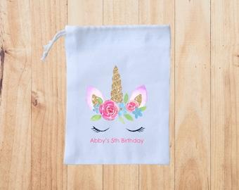 Unicorn Favor Bags -Birthday Favor Bags-Custom Unicorn favor Bags-Kids Birthday Party Bags- Personalized Favor Bags-Custom Goodie Bags P2