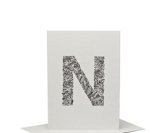 N for Nightingale - Letterpress Print
