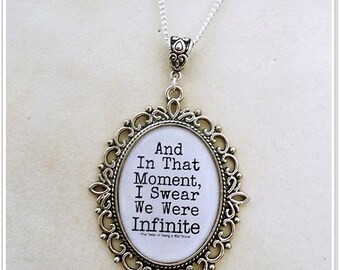 Large Perks of Being a Wallflower Quote Necklace