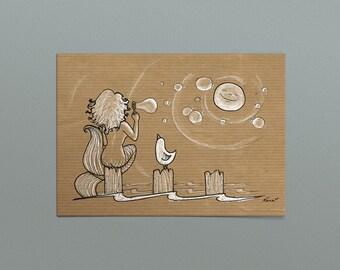 """Postcard """"Bubbles"""""""