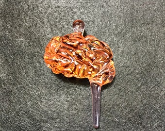 Color Changing Glass Brain Pendant