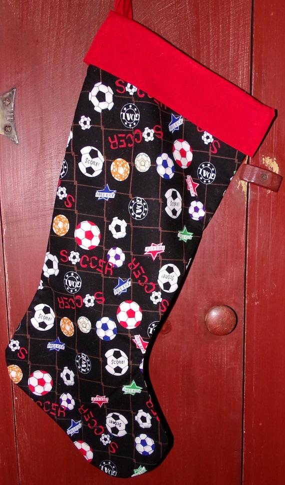 Soccer Christmas Stocking
