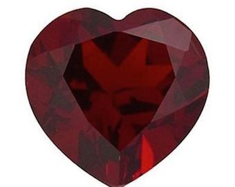 Genuine Natural Mozambique Garnet AAA Heart Loose Gemstones (3x3mm - 10x10mm)