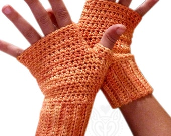 Crochet Pattern: Quick Easy Fingerless Mitts