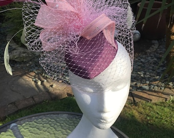 Bespoke 1940's style percher hat with veiling and feathers