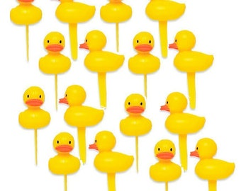 12pack Yellow Duck Cupcake Decoraiton Toppers