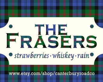Soy Candles | The Frasers | Outlander | Jamie and Claire | Book Merch | Book Lover Gift | Scottish | Bookish Gift | Canterbury Road Co