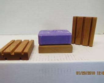 Hardwood soap tray soap dish