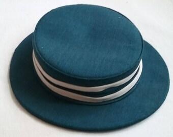1950s Blue Woman's Hat
