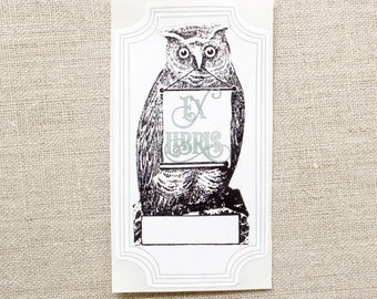 owl book plates - bird bookplates - ex libris - personalized bookplate stickers - gift for book lovers - gift under 20 - bookworm for her