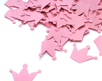 Crown Confetti, pink, Customized Crown Various Colours, 200, Rustic Wedding, Table Decor, duchess kate, tiara, flower girl, toppers