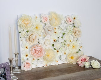 Flower Wall Art, Flower Letters, Flower Nursery Decor, Romantic Floral Wall  Art, Canvas Home Decor, Artificial Silk Flowers, Rose, Peony, 3D