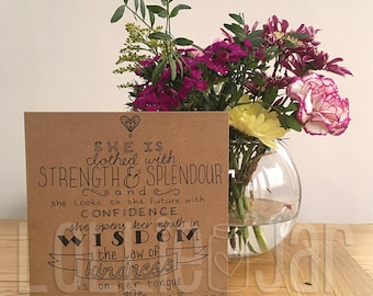 Bespoke Bible Scripture Typography Design Card