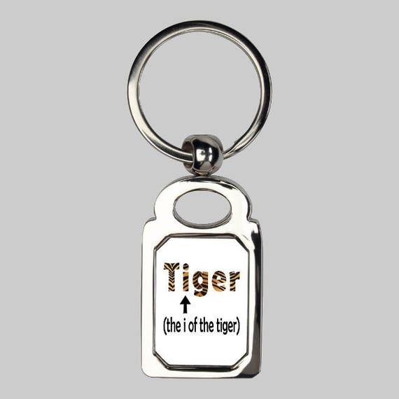 Eye of the tiger keyring