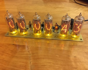 nixie tube clock in14 Yellow