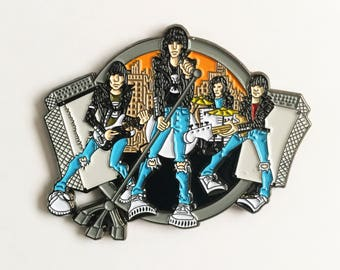 RAMONES Road To Ruin enamel lapel pin
