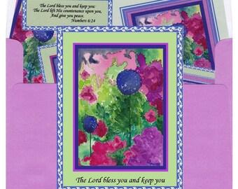 Allium, greeting card