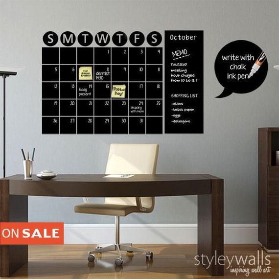 Chalkboard Calendar Decals Chalk Board Wall Calendar Vinyl