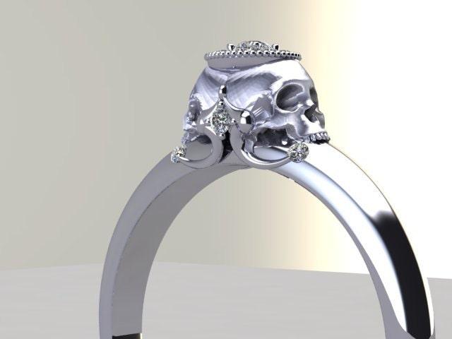 zoom - Skull Wedding Rings