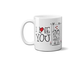 Valentine's Day Mug | Valentine | I Love You Gift | Valentines Day Mug | Gift for Her | Couple Gift | In love Mug | I love you mug