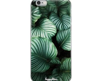 Green Leaves Nature Photo iPhone Case - iPhone 6, 6s, 6 Plus, 6 s Plus, 7, 7 Plus, 8, 8 Plus, X