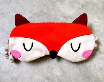 Cute Fox Sleep Mask Foxy Eyemask ORANGE Fox Sleeping Eye Mask Animal Cosplay Costume Mask Fantastic Mister Fox Eye Cover Travel Flight Mask