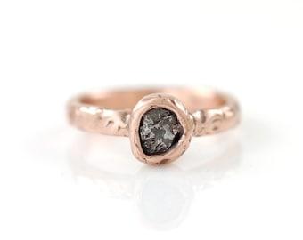 Einzelne Meteoriten Ring in 14k Rosegold - Bestelloptionen