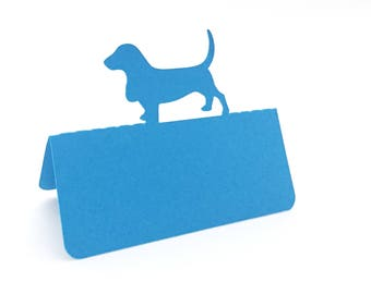 Dog Place Cards Set of 100, Dachshund place cards, wedding place cards, dog wedding, escort cards