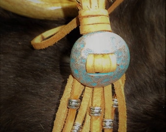 Leather Concho Necklace