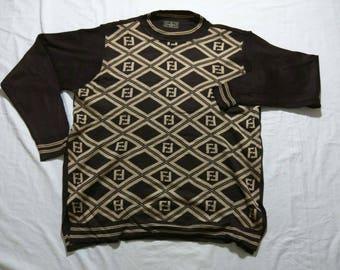 Vintage 90s Fendi knit sweater