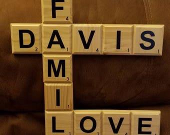 Handmade Scrabble Name Signs