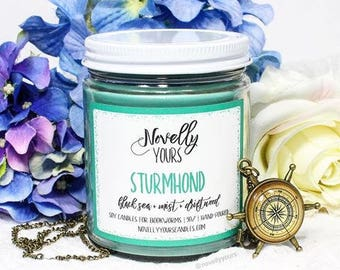 Sturmhond | 9oz jar | Grisha, Siege and Storm, Nikolai Inspired Soy Candle | Book Candle | Bookish Gift