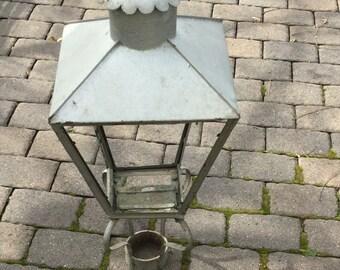 Antique Copper Gas Street Lamp New Orleans Vintage Light Fixture