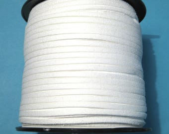 15ft White Faux Suede Cord 3mm ( No.1125)