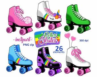 roller skate art etsy rh etsy com roller skate clip art images roller skates clipart