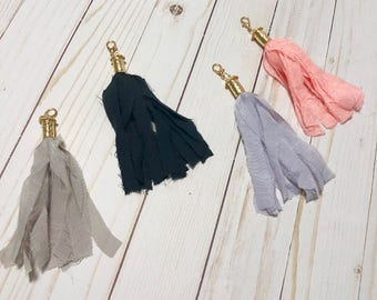 Fabric Tassel Planner Charm