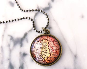 Albania Map Necklace - Albania Necklace - Albania Jewelry - Wanderlust Necklace - Wanderlust Jewelry